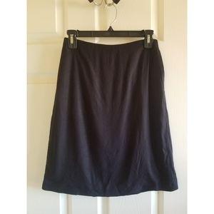 Prada black A-line pencil skirt